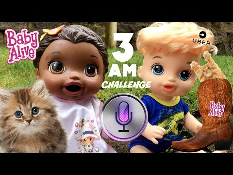 BABY ALIVE does the 3AM CHALLENGE! FRIENDS & FAILS! The Lilly and Mommy Show. The Toytastic Sisters.