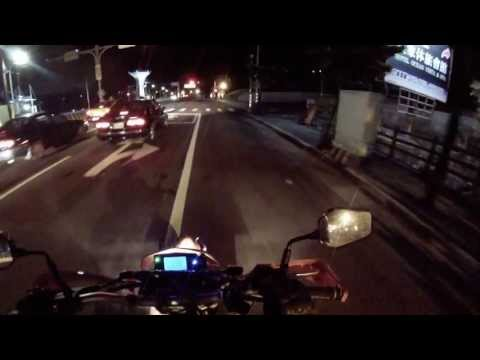 CPI SM 250cc review - first ride & crash - GoPro night test - Taipei YangMingShan mountain