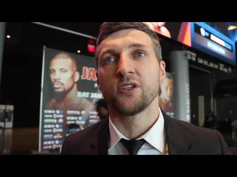 CARL FROCH - 'I UPSET JAMES DeGALE AT WEIGH IN' / TALKS ...