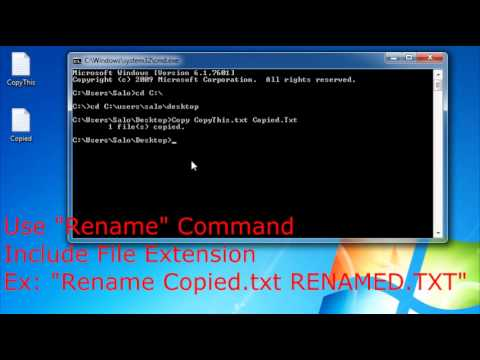 How to Change Directory, Copy, Rename & Delete Files in CMD Windows 7 (Simple) - YouTube
