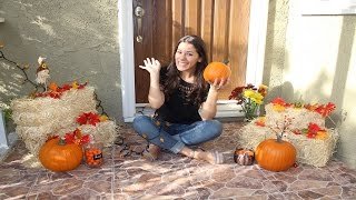 Fall Porch Decoration - DIY
