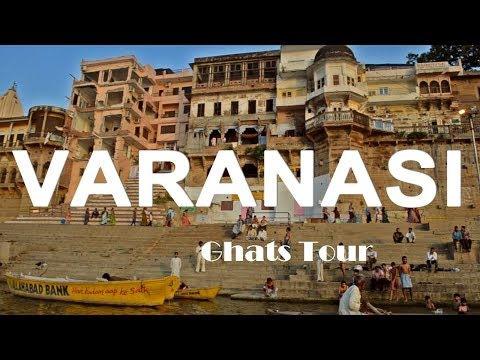 The view of Kashi Ghats from boat riding in  river Ganges-Varanasi