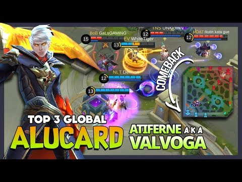 Alufeed Mid? You Need Me for Comeback! ATIFERNE aka VALVOGA Top 3 Global Alucard ~ Mobile Legends