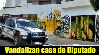 Vandalismo en casa de diputado en SLP