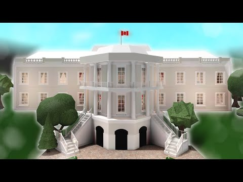 Decorating And Touring My White House In Bloxburg Youtube