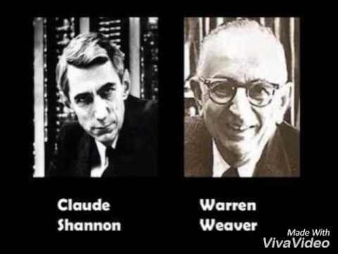 contoh model shannon and weaver Shannon and weaver to the original model was designed to mirror the functioning of radio and telephone generality, and quantifiability social scientists claude shannon and warren weaver structured this model based on the following elements: 1 an information source, which.