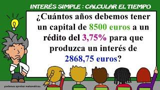 Interés Simple:calcular el tiempo