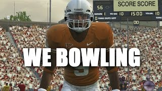LETS GO BOWLING! NCAA Football 09 Mini game Gameplay