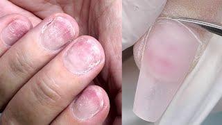 Ногти Тряпочки Форма Балерина Гелем Маникюр при наращивании