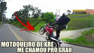 MOTOQUEIRO DE XRE ME CHAMOU PRO GRAU (PUXOU, CORTOU E RASPOU)