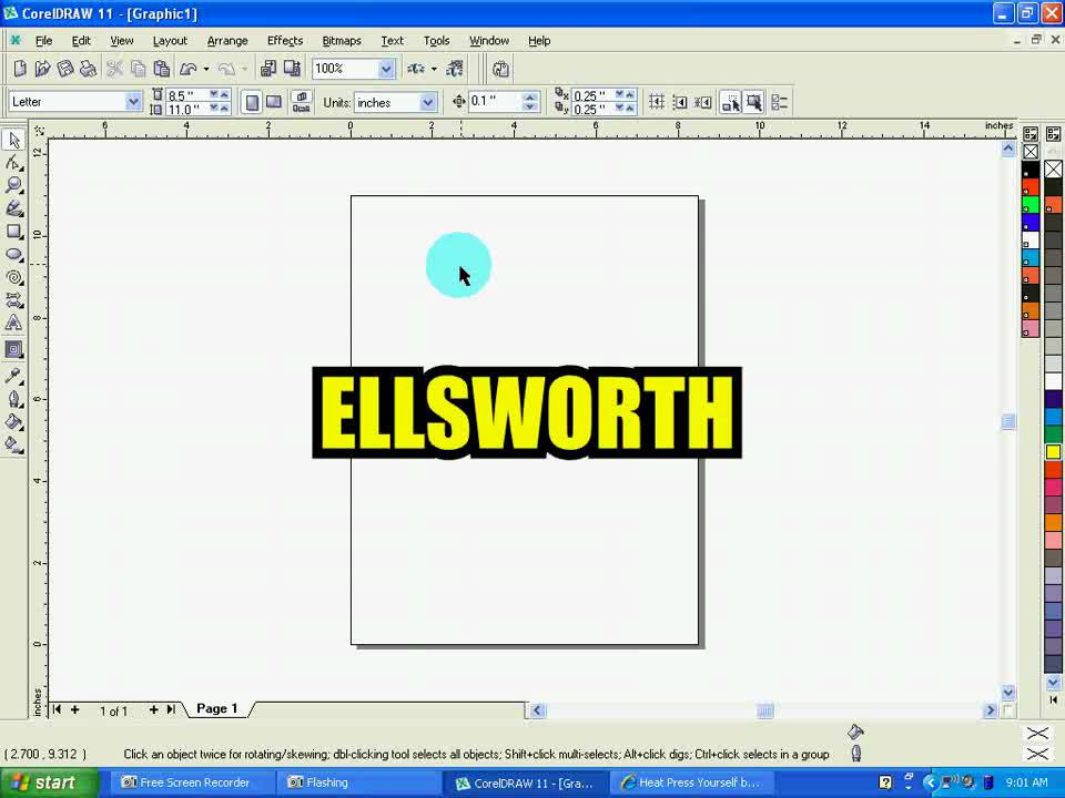 Vinyl Cutter Software >> Preparing a Two Color Name in CorelDRAW for Vinyl Cutting ...