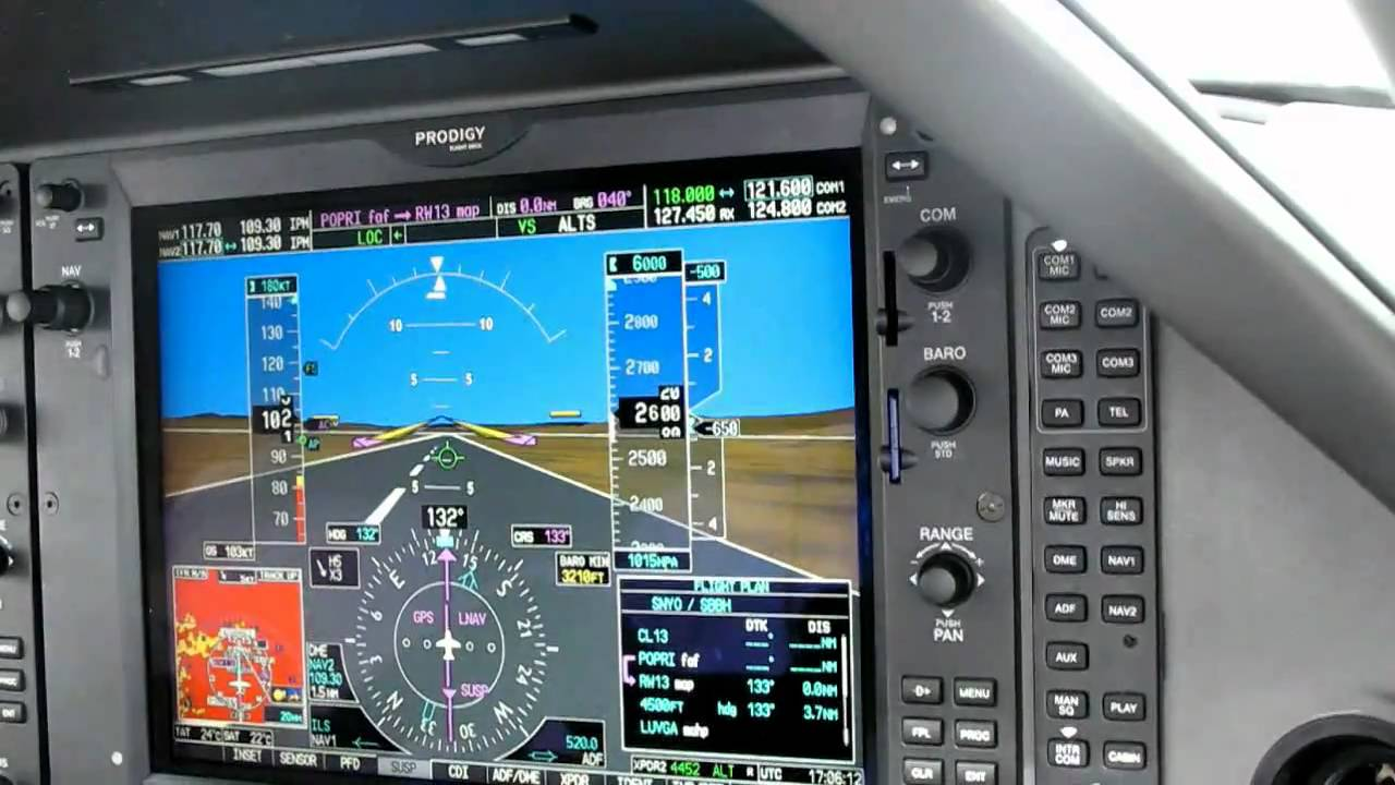 Garmin Gps Watch >> Landing with Synthetic Vision - YouTube