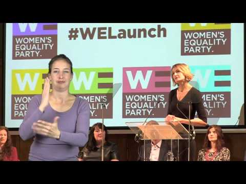 Women's Equality Party Policy Launch - with sign language