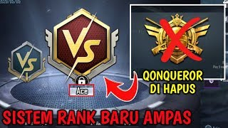 NOTHING CONQUEROR! New Rank System PUBG Mobile - Ranked Arena for TDM & Domination