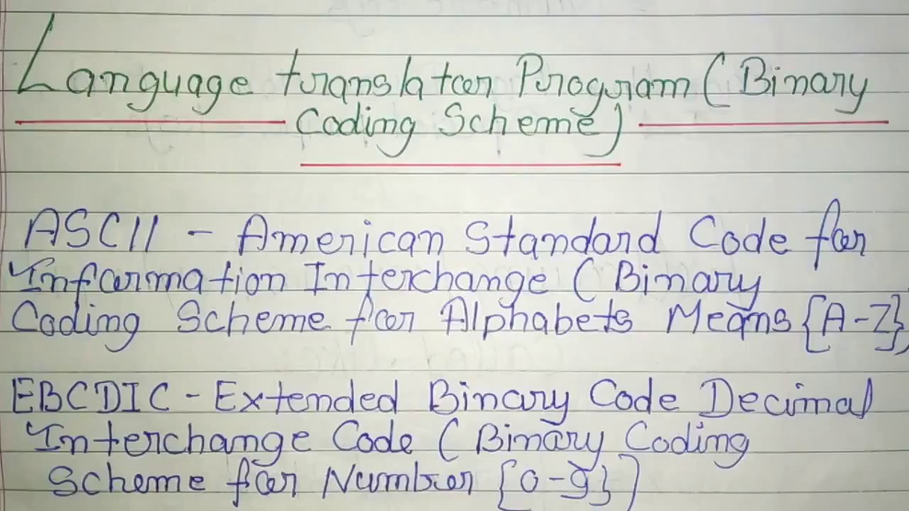 WHAT IS ASCII OR EBCDIC CODE IN HINDI
