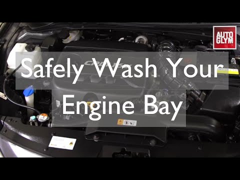 How to safely wash your engine with water