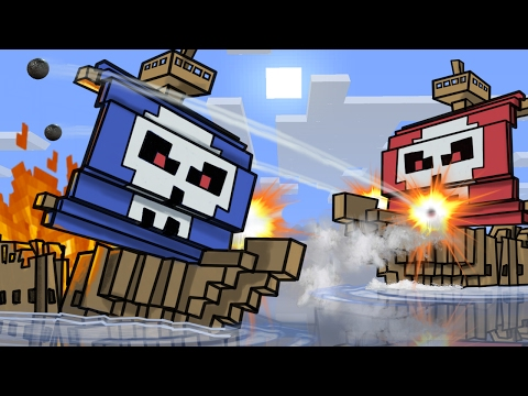 Roblox | BLUE VS RED PIRATE SHIP BATTLES! (Roblox Adventures)