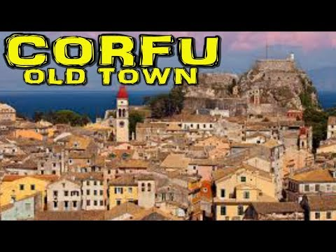 Corfu/Kerkyra Old Town Greece 4K
