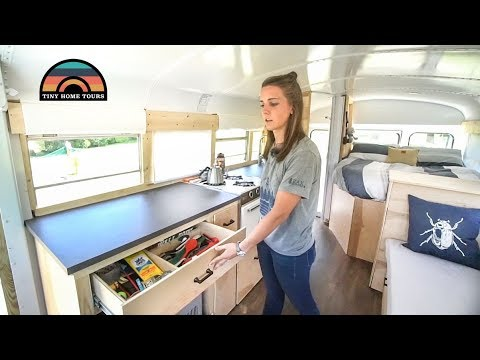 Newly Weds Build Best Camper Conversion Costing Under $10k - Simple Functional & Elegant