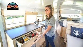 Newly Weds Build Best Camper Conversion Costing Under $10k - Simple Functional & Elegant