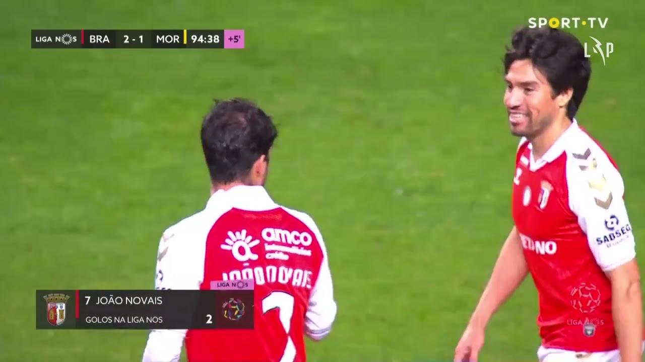 Goal | Golo João Novais: SC Braga (2)-1 Moreirense (Liga 20/21 #33)