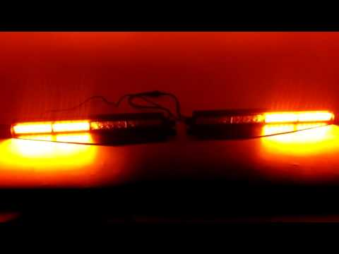 "34/"" Purple//White 40 LED Visor w// TAKE DOWN Dash Split Windshield Strobe Lightbar"