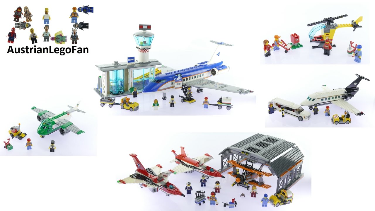 All Lego City Airport Sets 2016 Lego Speed Build Review Youtube