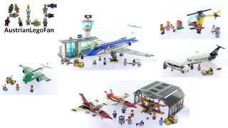 All Lego City Airport Sets 2016 - Lego Speed Build Review
