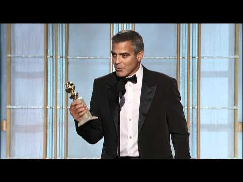George Clooney Wins Best Actor Motion Picture Drama - Golden Globes 2012