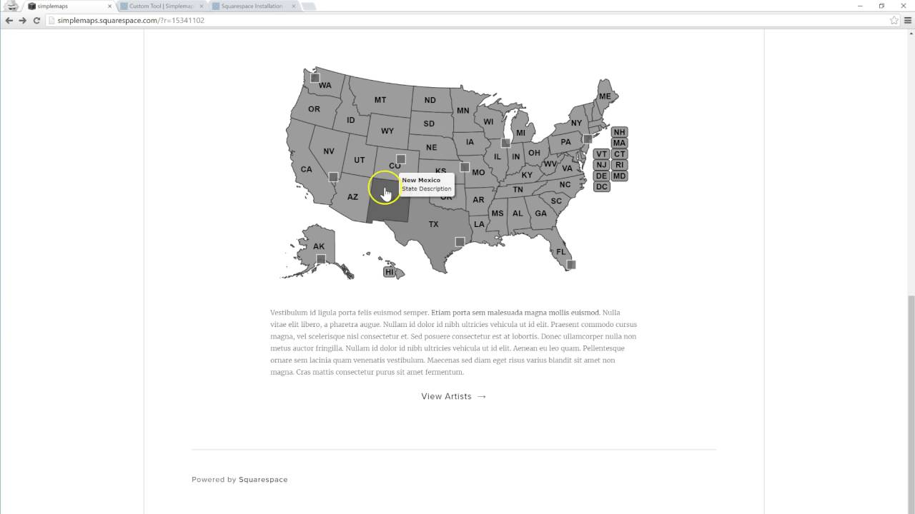 Tutorial Add A Map To Squarespace USWorldCanda YouTube - How to add clickable us map to webpage