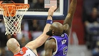 Quincy Acy Drops the POSTER on Marcin Gortat