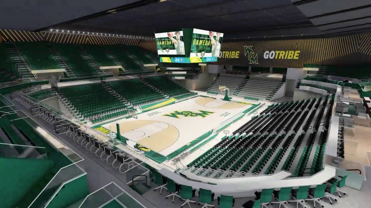 W M Athletics Kaplan Arena Revitalization Virtual Tour Youtube