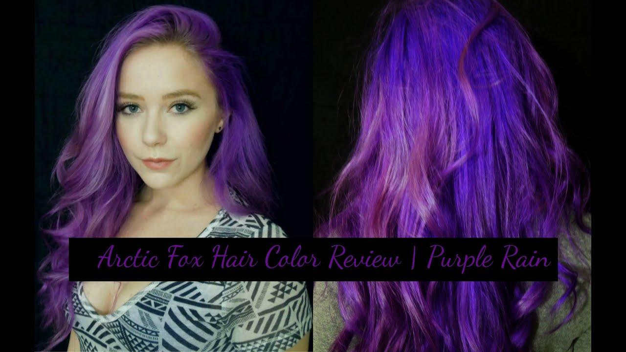 Arctic Fox Hair Color Review Purple Rain Youtube