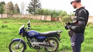 часть 1. Мотоцикл для начинающих Bajaj Boxer BM 150, первый обзор, сравнение с YBR 125