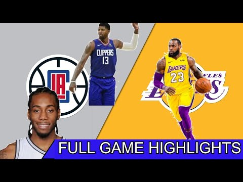 LAKERS VS. CLIPPERS | 1ST NBA GAME SINCE SHUTDOWN | FULL GAME HIGHLIGHTS | JULY 30, 2020