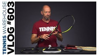 Sneak peek new racquets from Volkl + some Pro Stock & Bosworth racquets -- VLOG #603