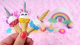 DIY American Girl Unicorn Ice Cream Cones