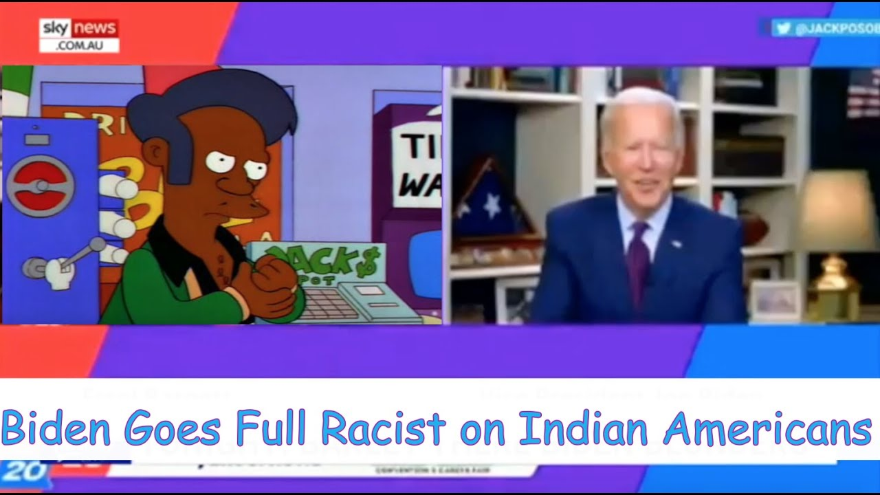 Biden Turns Racist Against Indian People in Very Racist Way... (comedian K-von was shocked)