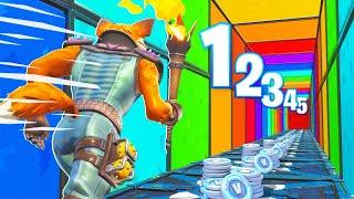1 NIVEAU = 1000 V-BUCKS avec PINK ! Deathrun CHALLENGE Fortnite
