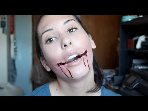 Chelsea Smile Sliced Mouth Halloween Makeup Tutorial - YouTube
