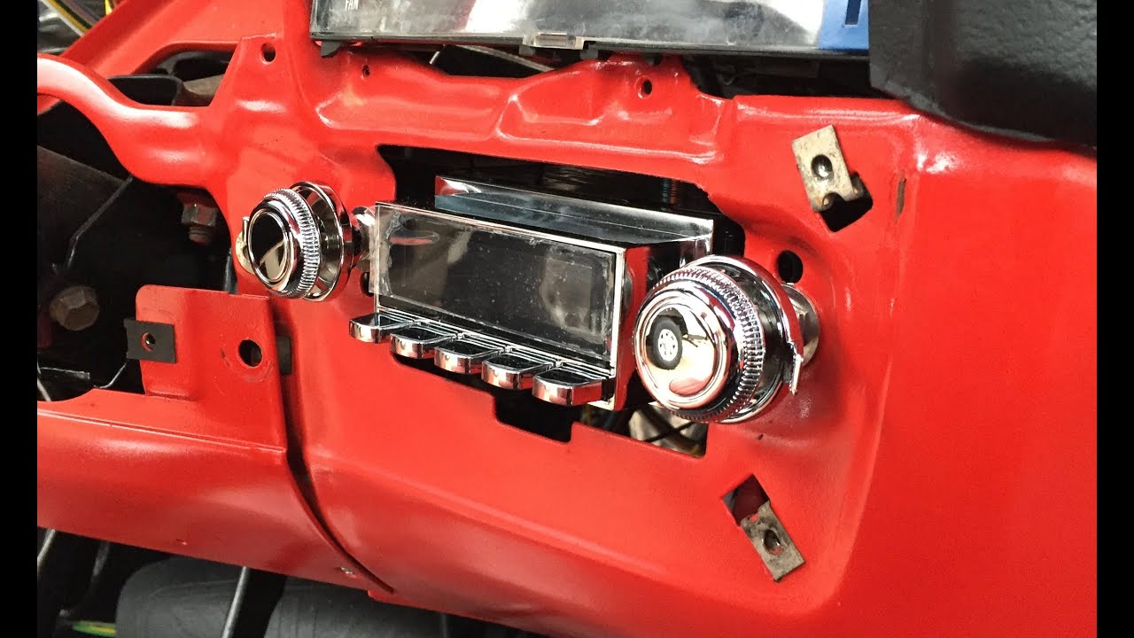 PART 2 CHEVY C10 RETROSOUND RADIO INSTALL | Vintage Look ...