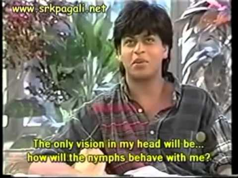 Shahrukh khan rare , old, and funny interview