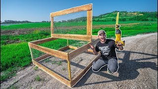 Building a $25 HOMEMADE CHICKEN COOP for My FARM!!! (DIY)