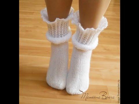 красивые вязаные носки Beautiful Knitted Socks Youtube
