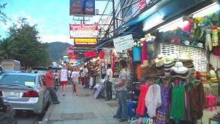 [PHUKET] Walking on Beach Rd/Thaweewong Rd @ Phuket,Thailand プーケット県 / パトンビーチ