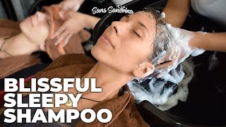 Blissful Sleepy Shampoo and Rinse with water and scratchy sounds - ASMR