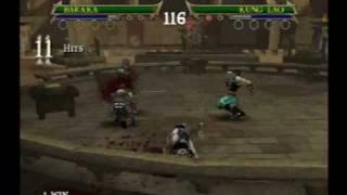 MK: Shaolin Monks - Baraka VS Kung Lao