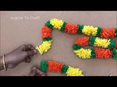 Crepe paper Decoration Ideas (Festival Decorative Ideas )