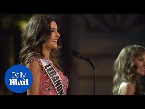 Controversy sparks as Miss Lebanon clashes with Miss Israel - Daily Mail