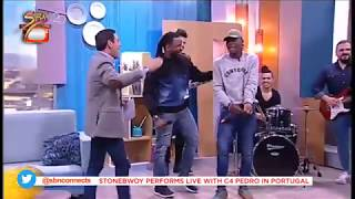 Stonebwoy performed 'Quero Mais Love' song with C4 Pedro at Portugal.